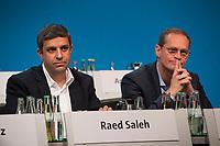 DEU, Deutschland, Germany, Berlin, 11.11.2017: Raed Saleh, Vorsitzender der Berliner SPD-Fraktion, und Michael Müller, Regierender Bürgermeister von Berlin, Landesparteitag der Berliner SPD im Hotel Interconti.
