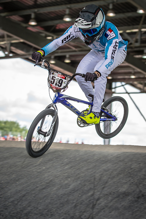 #519 (POINTIN Hugo) FRA at Round 6 of the 2019 UCI BMX Supercross World Cup in Saint-Quentin-En-Yvelines, France