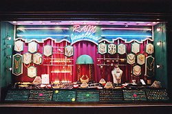 Jewellers window display,