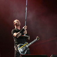 São Paulo - SP / James Hetfield, vocalista da banda de rock Metallica, durante show no estádio do Morumbí / Foto: Rogerio Albuquerque