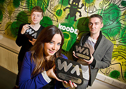 Repro Free: 02/11/2012.A Hat Trick for Kooba : Kooba Wins Three Awards at The Irish Web Awards including Best Web Agency of the Year?Ä®¬??Ä®Ed Kelly, Creative Director, Clodagh Mahoney, Head of Front End Development and Emmet Dunne, Managing Director of Irish owned web design and development agency Kooba who¬?took home three awards at Thursday?Äôs Web Awards 2012 in Dublin?Äôs Mansion House : Web Agency of the Year, Best Responsive Website and Best Education and Third Level Website. Pic Andres Poveda?Ä®¬??Ä®Kooba was awarded Best Web Agency of the Year fighting off stiff ¬?competition from a shortlist of no fewer than twenty other web agencies.?Ä®Kooba?Äôs own website won the award for Best Responsive Design. Recent findings from Accenture?Äôs Mobile Web Watch 2012 reveal 77% of Irish internet users access the internet from mobile devices. Kooba has responded to this trend by redeveloping their own website and making it user friendly and accessible regardless of whether you access the internet from the latest smart phone, tablet or an old desk top pc.?Ä®Kooba?Äôs Creative Director, Ed Kelly said, ?Äú ¬?We?Äôre over the moon at having won all three awards, not least the award for Best Web Agency of the Year. 2012 has been an exciting year for everyone at Kooba..?Äù?Ä®Kooba won Best Education and Third Level website for their design and development of the National College of Art and Design (NCAD) website. ¬?Kooba worked closely with a team in NCAD to create a new website that is much more interactive for students, staff, alumni and prospective students.?Ä®¬??Ä®?Äú this is a great way to sign off 2012 and look forward to 2013. We moved premises to Dublin 1 earlier in the year, our team has grown in size to 5 and we?Äôre in the process of recruiting two more developers,?Äù said Ed.?Ä®¬??Ä®ENDS?Ä®¬??Ä®Contact Pauline N?? Luanaigh 086 8323 998.