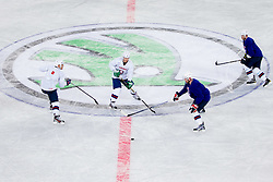 during practice session of Slovenian National Ice Hockey team first time in Arena Stozice before 2012 IIHF World Championship DIV I Group A in Slovenia, on April 13, 2012, in Arena Stozice, Ljubljana, Slovenia. (Photo by Vid Ponikvar / Sportida.com)
