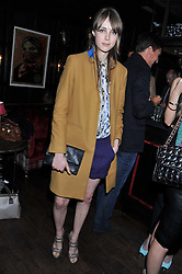 EDIE CAMPBELL at the launch of the Johnnie Walker Blue Label Club held at The Scotch, Mason's Yard, London on 1st May 2012.
