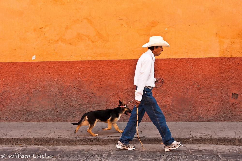 Man with dog - San Miguel de Allende