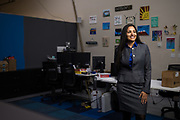 Ketos CEO Meena Sankaran poses for a portrait at Ketos, Inc. in San Jose, California, on February 11, 2019. (Stan Olszewski for Silicon Valley Business Journal)