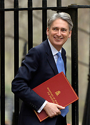 © Licensed to London News Pictures. 26/03/2013. Westminster, UK . Philip Hammond, Conservative MP, Secretary of State for Defence. Ministers in Downing Street, London, for Cabinet today, 26th March 2013. Photo credit : Stephen Simpson/LNP
