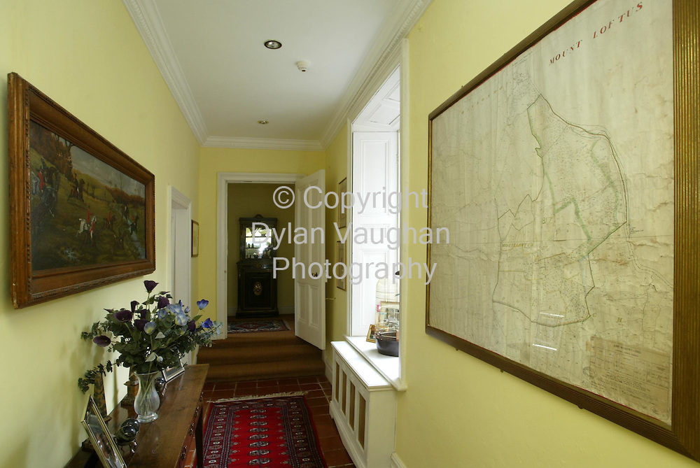 2/4/2002 .Sunday Times Property.One of the downstairs corridors at Mount Loftus in Kilkenny..Picture Dylan Vaughan