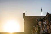 ESSAOUIRA, MOROCCO May 11th 2018 - Skala de la kasbah rampart architecture, Southern Morocco