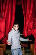 4 novembre 2016, Napoli Italia - Rione Sanità, Nuovo Teatro Sanità. Riccardo Ciccarelli , 26 anni nato a Napoli, di Piscinola, attore.