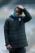 Wilfried Zaha (#11) of Crystal Palace ahead of the Premier League match between Newcastle United and Crystal Palace at St. James's Park, Newcastle, England on 21 December 2019.