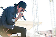 Michael Wayne Atha of Yelawolf performs during Edgefest 2015 at Toyota Stadium on April 25, 2015 in Dallas, Texas.