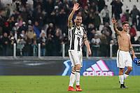 25.02.2017 - Torino - Serie A 2016/17 - 26a giornata  -  Juventus-Empoli nella  foto: Leonardo Bonucci esulta a fine partita
