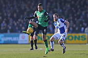 Scunthorpe United Funso Ojo (6) on the ball during the EFL Sky Bet League 1 match between Bristol Rovers and Scunthorpe United at the Memorial Stadium, Bristol, England on 24 February 2018. Picture by Gary Learmonth.