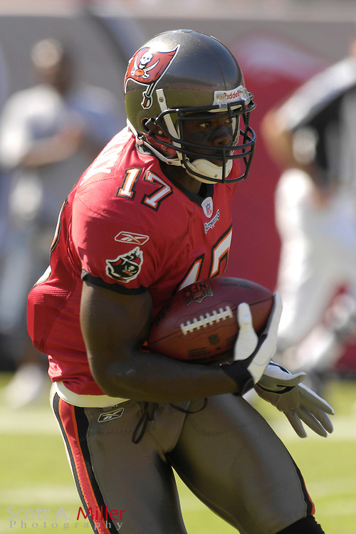 Nov. 4, 2007; Tampa, FL, USA;  Tampa Bay Buccaneers receiver Micheal Spurlock in action during the Bucs17-10 win over the Arizona Cardinals at Raymond James Stadium. ...©2007 Scott A. Miller