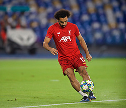 NAPLES, ITALY - Tuesday, September 17, 2019: Liverpool's Mohamed Salah during the pre-match warm-up before the UEFA Champions League Group E match between SSC Napoli and Liverpool FC at the Studio San Paolo. (Pic by David Rawcliffe/Propaganda)