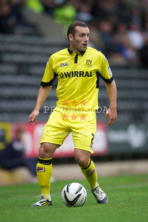 NOTTINGHAM, ENGLAND - Saturday, October 6, 2012: Tranmere Rovers' Danny Holmes in action against Notts County during the Football League One match at Meadow Lane. (Pic by David Rawcliffe/Propaganda)
