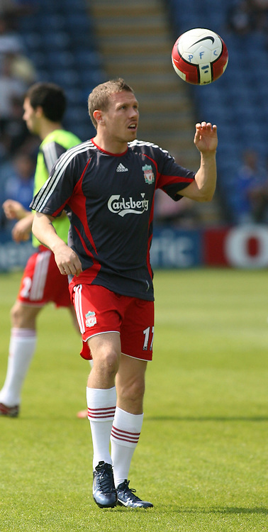 Portsmouth, England: Saturday, April 28, 2007: Liverpool's Craig Bellamy warms up against Portsmouth during the Premiership match at Fratton Park (Pic by Chris Ratcliffe/Propaganda)