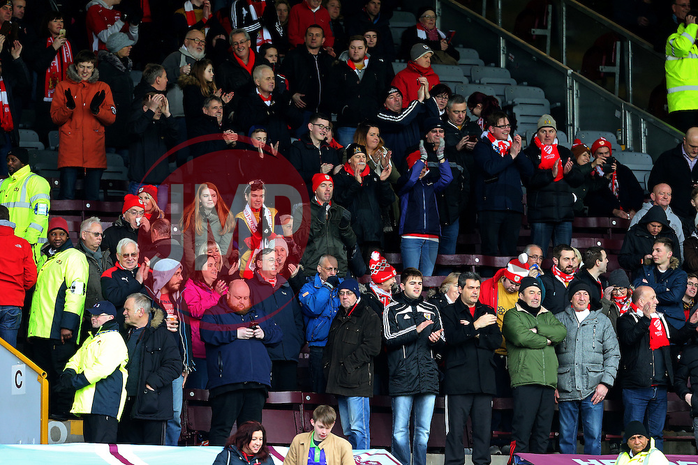 Bristol City fans - Mandatory by-line: Matt McNulty/JMP - 28/01/2017 - FOOTBALL - Turf Moor - Burnley, England - Burnley v Bristol City - Emirates FA Cup fourth round