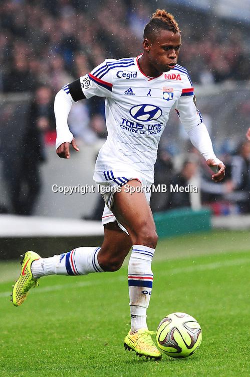 Clinton NJIE - 21.03.2015 - Lyon / Nice - 30eme journee de Ligue 1 -<br />Photo : Jean Paul Thomas / Icon Sport