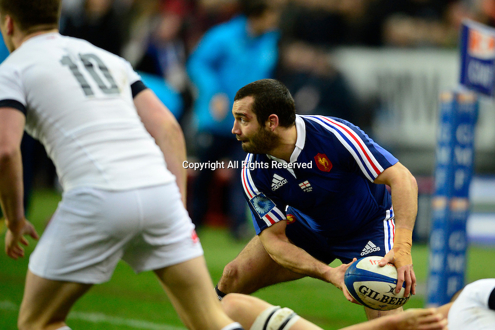 01.02.2014. Stade de France, Paris, France. 6 Nations International Rugby Union. France versus England.  Jean Marc Doussain (France )