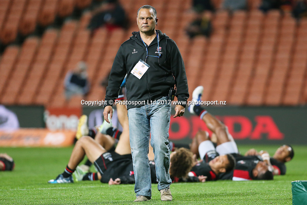 Counties-Manukau Head Coach Darryl Suasua ahead of the Mitre 10 Cup Rugby match - Waikato v Counties played at FMG Stadium Waikato, Hamilton, New Zealand on Friday 25 August 2017.  Copyright photo: © Bruce Lim / www.photosport.nz