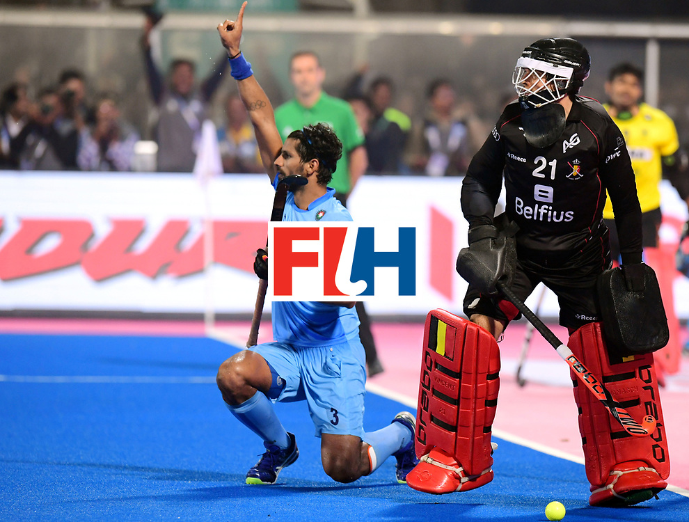 Odisha Men's Hockey World League Final Bhubaneswar 2017<br /> Match id:13<br /> Belgium v India<br /> Foto: Shoot Out<br /> Rupinder Pal Singh (Ind) scored<br /> COPYRIGHT WORLDSPORTPICS FRANK UIJLENBROEK