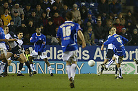 Photo: Chris Ratcliffe.<br /> Leicester City v Tottenham Hotspur. The FA Cup.<br /> 08/01/2006.<br /> Stephen Hughes scores the equalising goal for Leicester