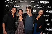 Guests, with actor Shaun Sipos (center)