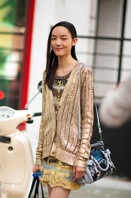 Fei Fei Sun in Rodarte, Outside the Show