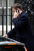 © Licensed to London News Pictures. 01/05/2012. London, UK . Jeremy Hunt Minister for Culture, Media and Sport.  Cabinet ministers arrive for the Cabinet Meeting on 1st May 2012. Photo credit : Stephen Simpson/LNP