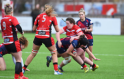 Katie Dougan of Gloucester-Hartpury Women tackles Clara Nielson of Bristol Bears Women - Mandatory by-line: Paul Knight 12/2019 - RUGBY - Shaftesbury Park - Bristol, England - Bristol Bears Women v Gloucester-Hartpury Women - Tyrrells Premier 15s