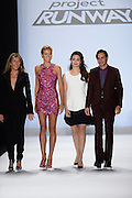 Sept. 5, 2014 - New York, NY, USA - September 5, 2014 <br /> <br /> Judges Nina Garcia, Heidi Klum, Emmy Rossum, and Zac Posen attend the Project Runway Season 13 Finale Show during Mercedes-Benz Fashion Week Spring 2015 at The Theatre at Lincoln Center<br /> ©Exclusivepix
