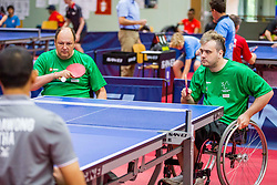 (Team SLO) LUKEZIC Bojan and KANCLER Primoz in action during 15th Slovenia Open - Thermana Lasko 2018 Table Tennis for the Disabled, on May 11, 2018 in Dvorana Tri Lilije, Lasko, Slovenia. Photo by Ziga Zupan / Sportida