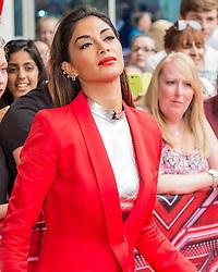 X Factor judge Nicole Scherzinger at the X Factor auditions held at the Leicester City's King Power Stadium<br /> <br /> (c) John Baguley | Edinburgh Elite media