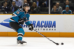 February 1, 2011; San Jose, CA, USA; San Jose Sharks right wing Dany Heatley (15) skates with the puck against the Phoenix Coyotes during the first period at HP Pavilion. San Jose defeated Phoenix 5-3. Mandatory Credit: Jason O. Watson / US PRESSWIRE