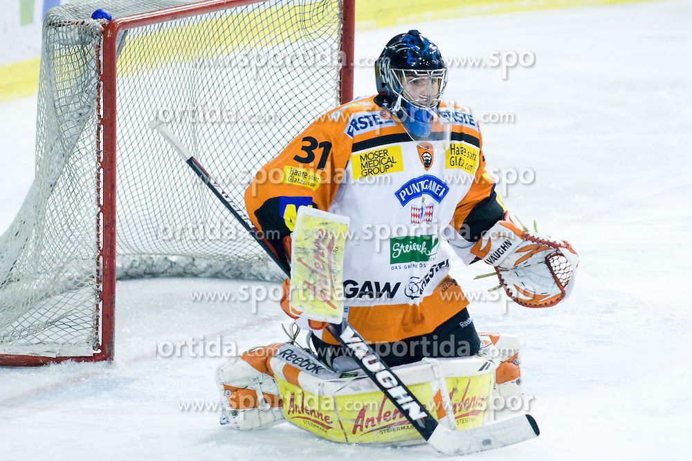 Fabian Weinhandl (Moser Medical Graz 99ers, #31) during ice-hockey match between HDD Tilia Olimpija and Moser Medical Graz 99ers in 43rd Round of EBEL league, on Januar 28, 2011 at Hala Tivoli, Ljubljana, Slovenia. (Photo By Matic Klansek Velej / Sportida.com)
