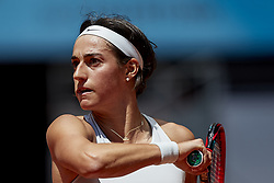 May 10, 2018 - Madrid, Madrid, Spain - Caroline Garcia of France in action her match against Carla Suarez Navarro of Spain during day six of the Mutua Madrid Open tennis tournament at the Caja Magica on May 10, 2018 in Madrid, Spain  (Credit Image: © David Aliaga/NurPhoto via ZUMA Press)