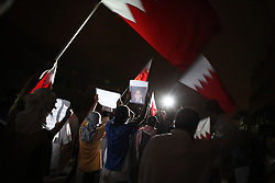 """In June, Bahrain's king, Hamad bin Isa al-Khalifa, established the """"Independent Commission of Inquiry"""" to examine any human rights violations that happened during a government crackdown on the popular uprising in the Gulf country earlier this year. The commission headed by judge Cherif Bassiouni is set to release its report on 23 November. Many opposition supporters in Bahrain are skeptical of the report because it's established by the government. On the night of 22 November, protesters gathered in the village of Eker village near the capital Manama to protest the report."""