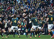 JOHANNESBURG, South Africa, 25 July 2015 : Charles Piutau of the All Blacks wins control of the ball in the air during the Castle Lager Rugby Championship test match between SOUTH AFRICA and NEW ZEALAND at Emirates Airline Park in Johannesburg, South Africa on 25 July 2015. Bokke 20 - 27 All Blacks<br /> <br /> © Anton de Villiers / SASPA