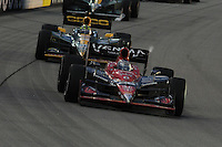 Marco Andretti, Tony Kanaan, Iowa Corn Indy 250, Iowa Speedway, Newton, IA USA 6/25/2011