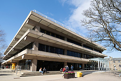 Exterior of University Library at St Andrews University in St Andrews, Fife, Scotland, UK