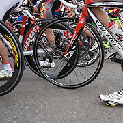Racers line up at the starting line of the 2010 UA Criterium at the University of Arizona's Tucson campus. Bike-tography by Martha Retallick.