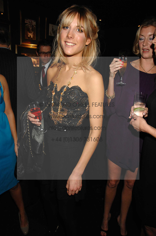 GEORGIE WELLS at a party to celebrate the publication of the 2007 Tatler Little Black Book held at Tramp, 40 Jermyn Street, London on 7th November 2007.<br />