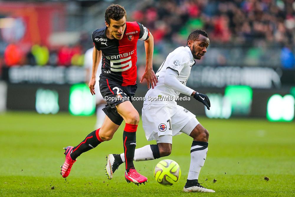 Lenny NANGIS / Romain DANZE  - 25.01.2015 - Rennes / Caen  - 22eme journee de Ligue1<br /> Photo : Vincent Michel / Icon Sport *** Local Caption ***