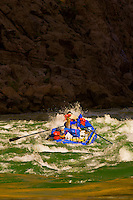 Whitewater rafting, Waltenberg Rapid, Grand Canyon, Grand Canyon National Park, Arizona USA