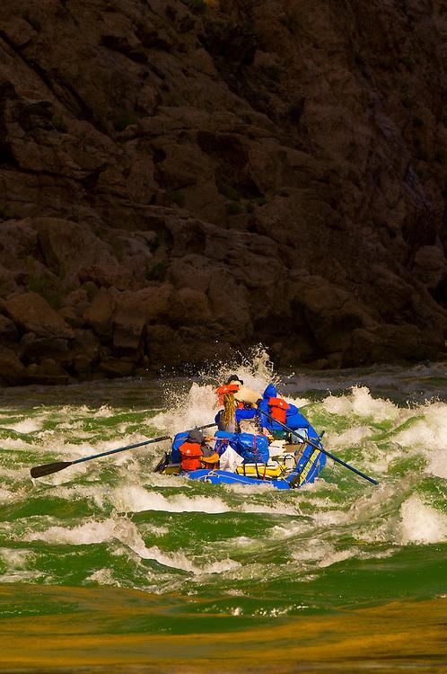 Whitewater rafting, Waltenberg Rapid, Grand Canyon, Grand Canyon National Park, Arizona USA