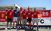 Manchester United fans in fancy dress before the AON Tour 2017 match between Real Madrid and Manchester United at the Levi's Stadium, Santa Clara, USA on 23 July 2017.