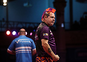 Peter Wright during the World Matchplay Darts 2019 at Winter Gardens, Blackpool, United Kingdom on 23 July 2019.