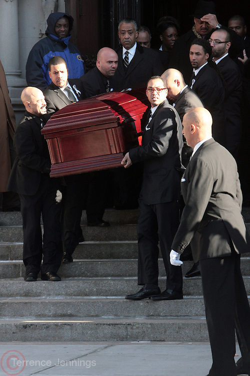 6 January 2010- New York NY- Casket of Percy Sutton at the Percy E. Sutton's Funeral held at The Riverside Church on January 6, 2010 in New York City. Photo Credit: Terrence Jennings/Sipa