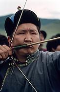 Mongolia. small naadam, archery